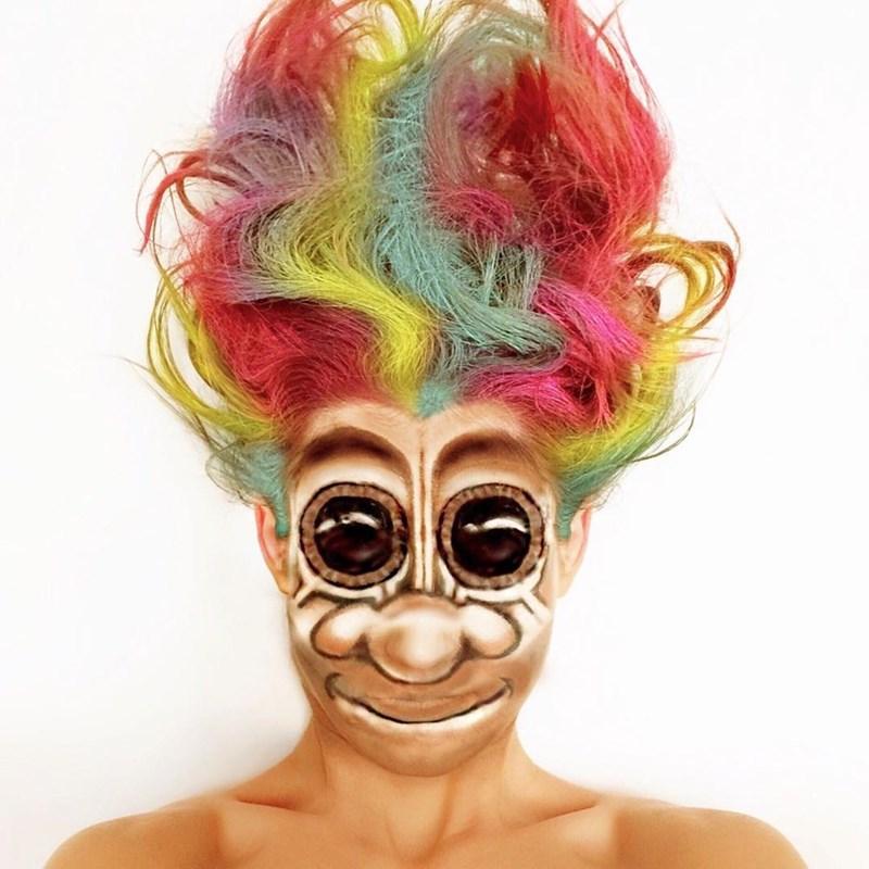 troll doll makeup