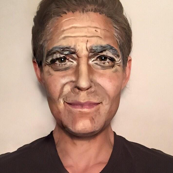 george clooney makeup