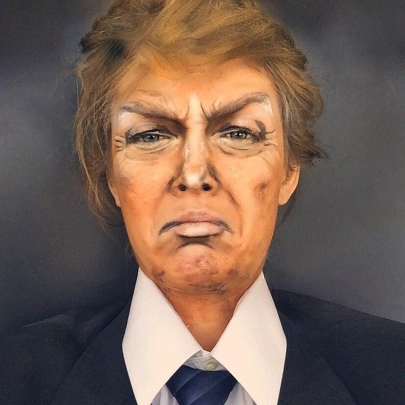 donald trump makeup