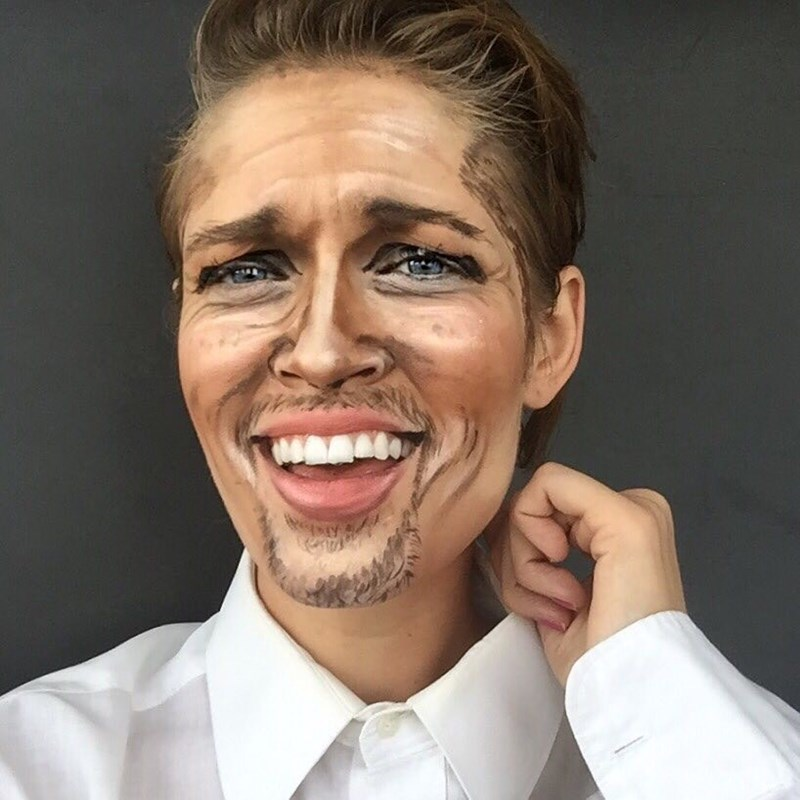 brad pitt makeup