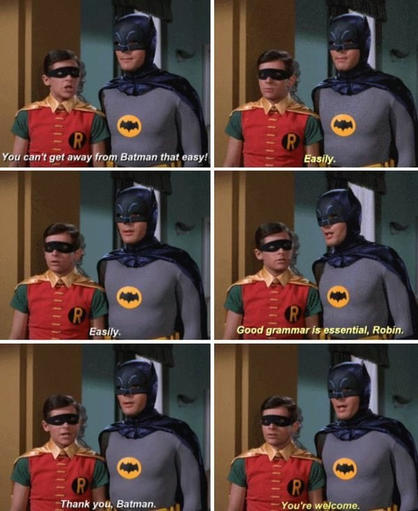 batman grammar Life Lessons From Batman