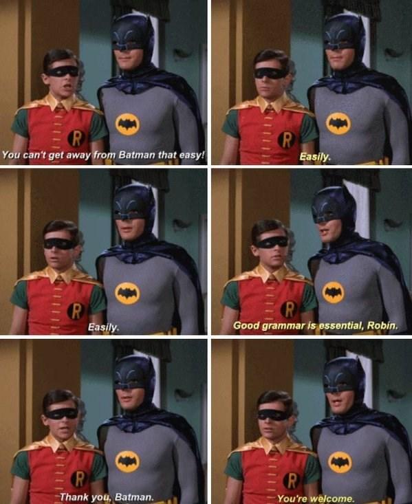 batman grammar Life Lessons From Batman