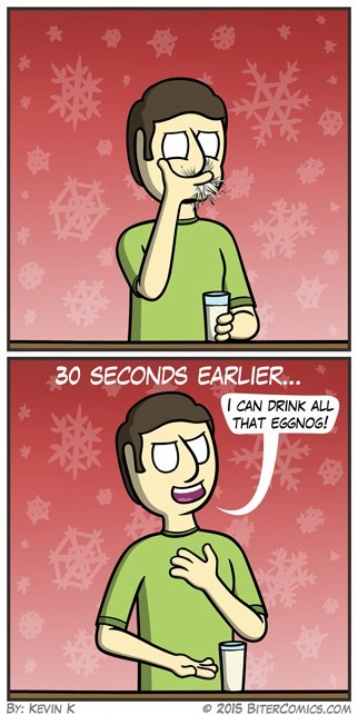 web comics egg nog Same Time Every Year