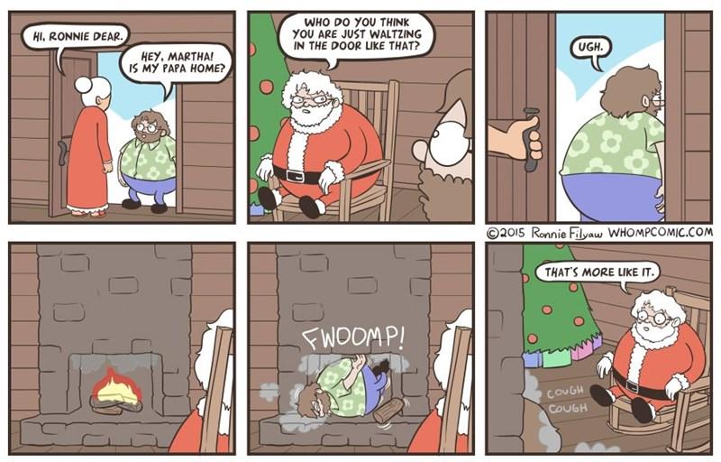 web comics christmas santa That's My Boy