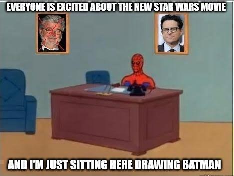 meme star wars Spider-Man Batman v Superman - 8595843328