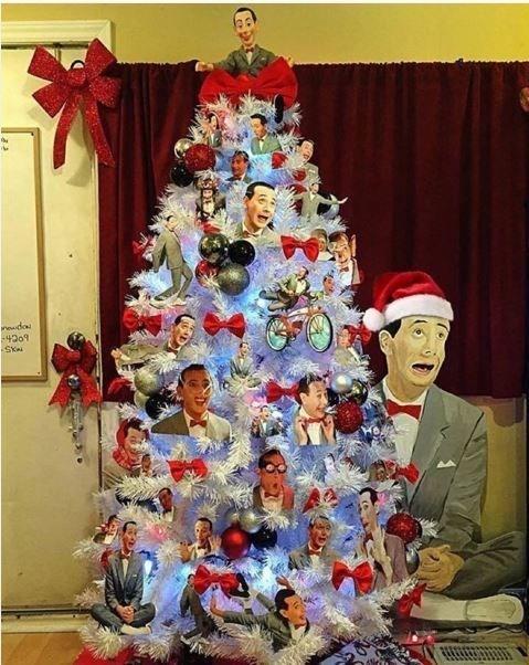 pee-wee herman christmas tree