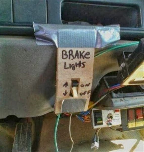 funny fail image brake light switch