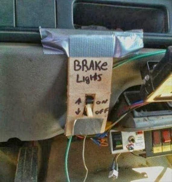 funny fail image brake light switch