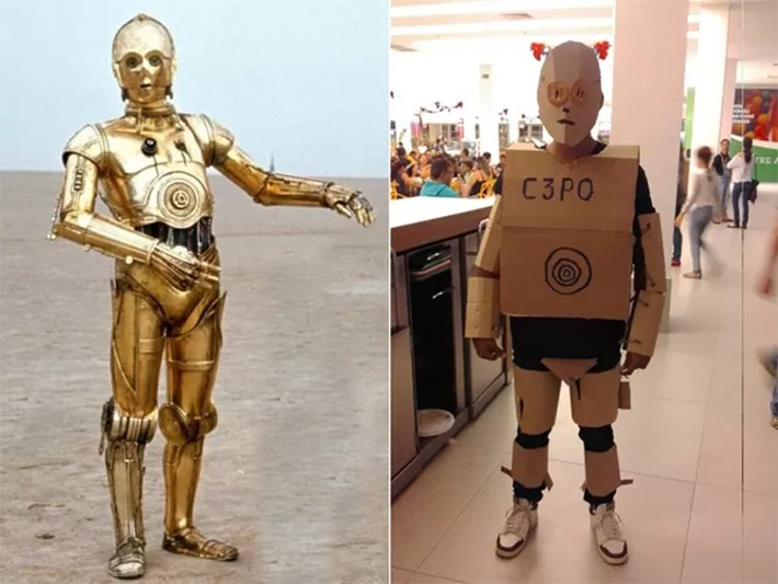 cosplay C3PO FAIL star wars
