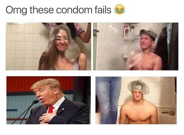 donald trump,condom,FAIL