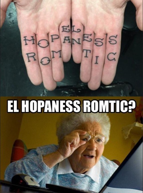 tattoos,hopeless romantic