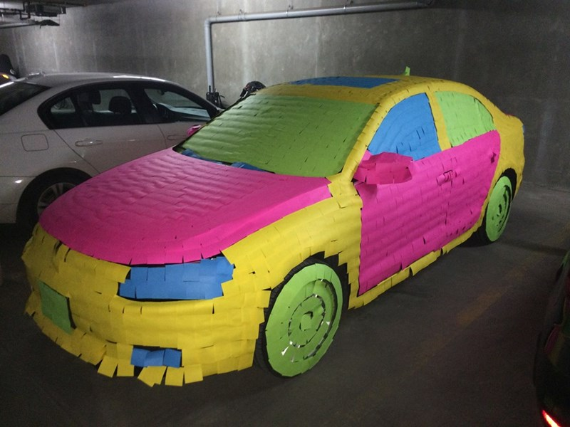 post it,cars