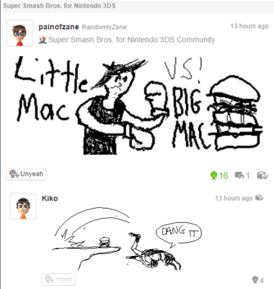 Miiverse little mac nintendo - 8596512768