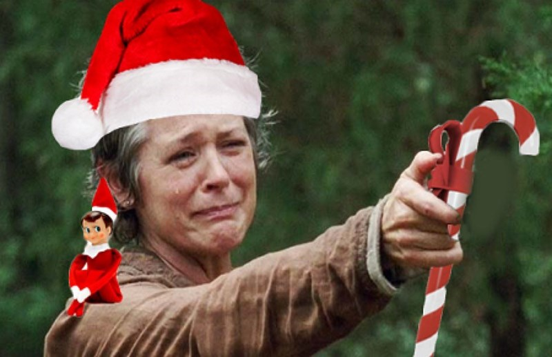 walking dead memes christmas carol