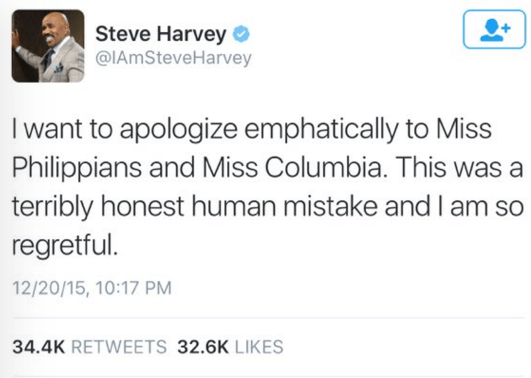 steve harvey miss universe fail