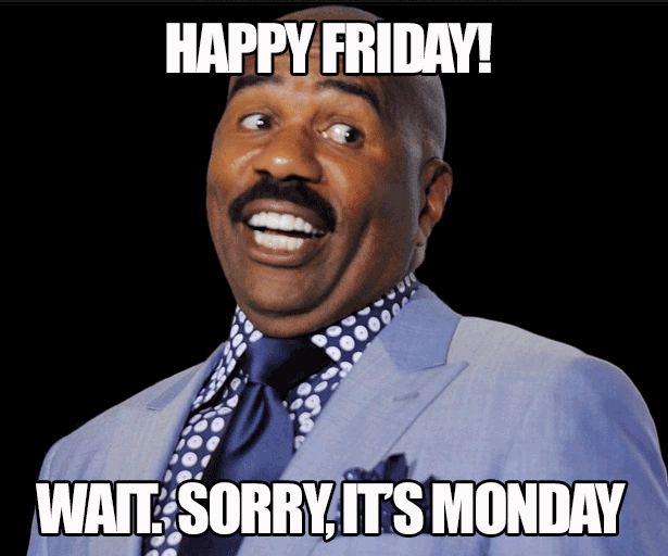steve harvey happy friday monday