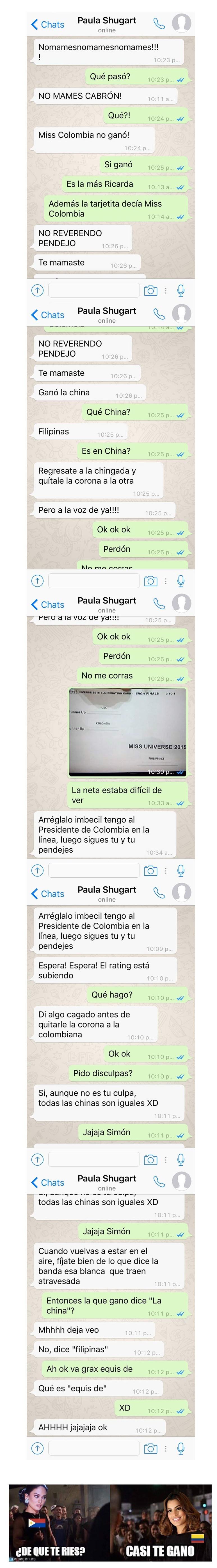 whatsapp entre jurado