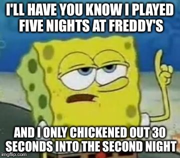 five nights at freddys tough spongebob - 8597165568