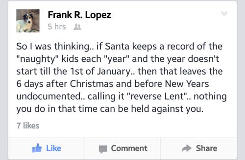 reverse lent after christmas purge