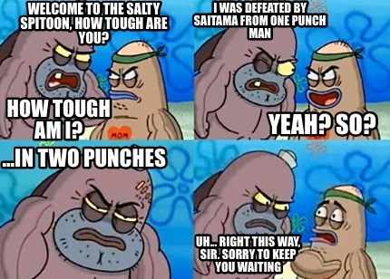 anime one punch man SpongeBob SquarePants - 8597247744
