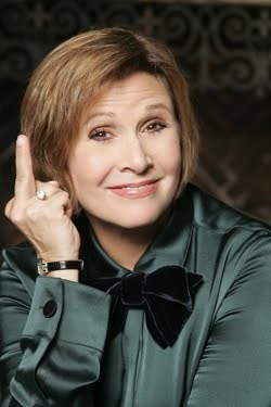 carrie fisher middle finger