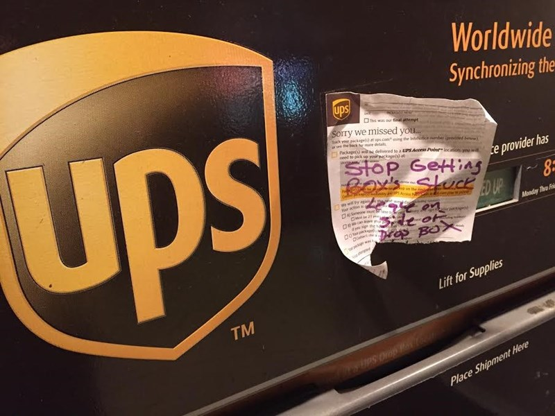 Passive Aggressive UPS Man strikes again!
