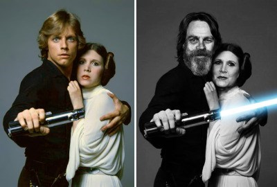 luke leia photo 1977 2015
