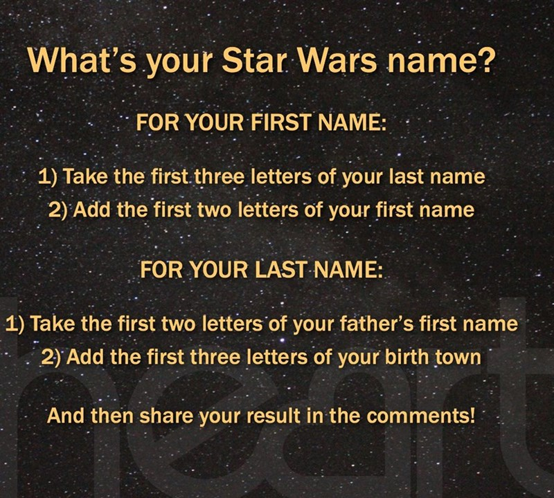 star wars name