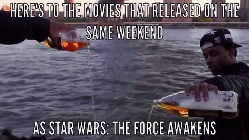 funny memes pour one out for movies released same day as star wars