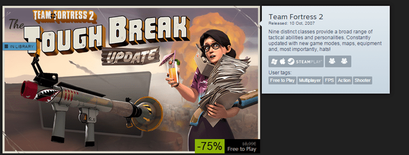 Team Fortress 2 steam sale - 8597670400