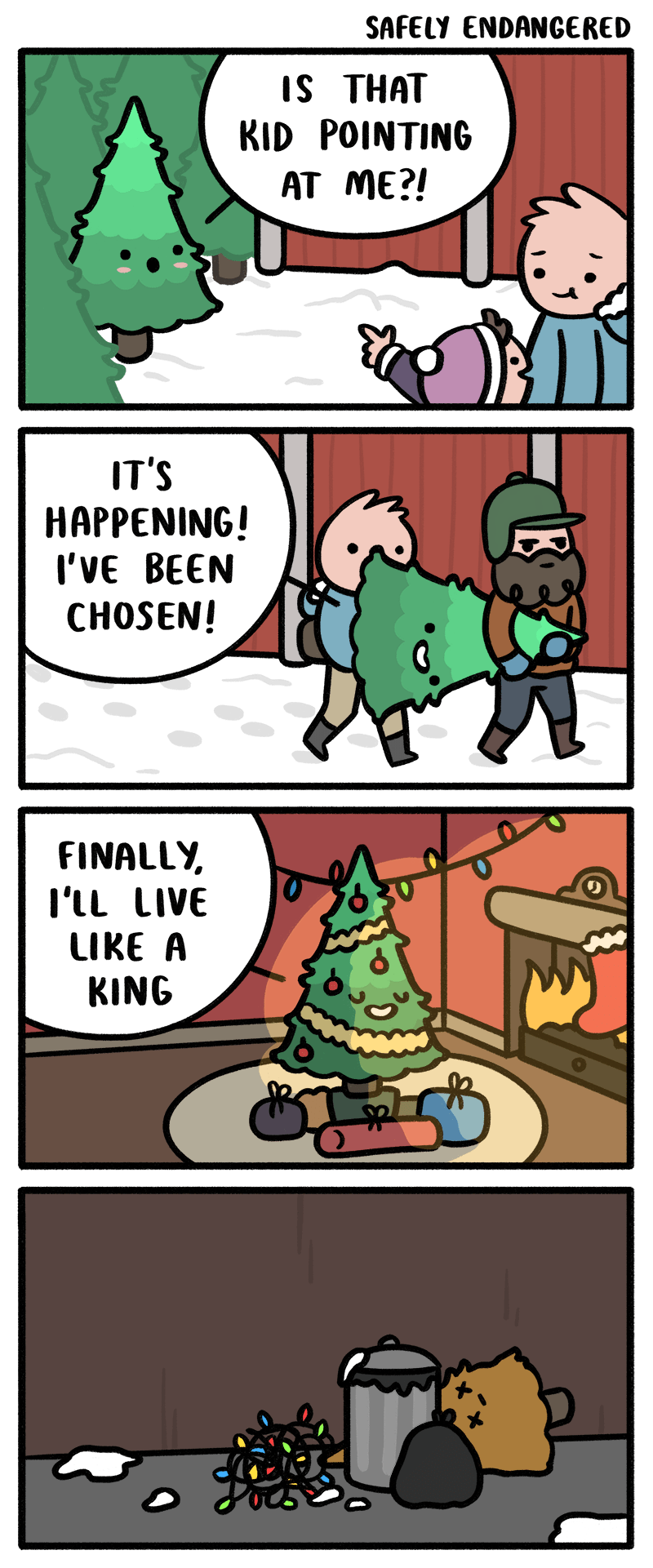Sad christmas christmas tree web comics - 8597781248