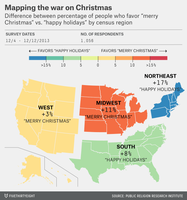 merry christmas vs happy holidays by region