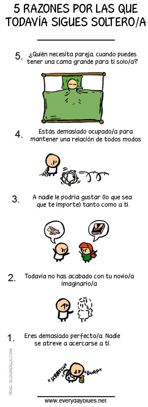 razones por estar solo
