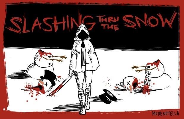walking dead memes slashing thru the snow