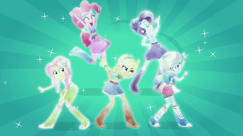 applejack equestria girls pinkie pie rarity crystal ponies fluttershy rainbow dash