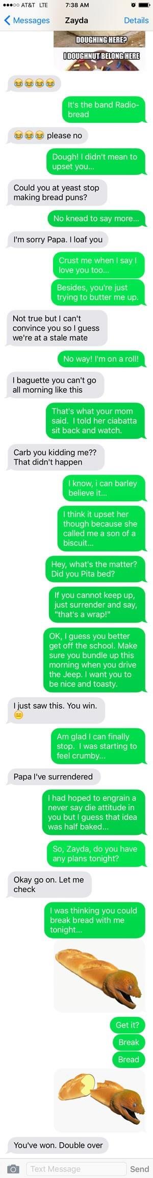 dad jokes puns bread - 8597908736