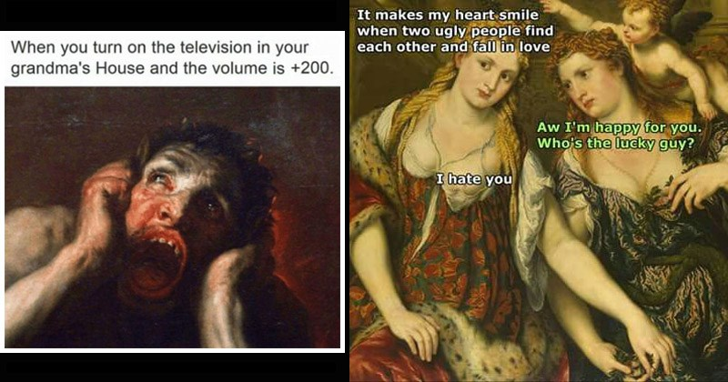 classical art memes of the dank variety