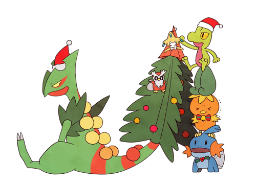 pokemon christmas fan art