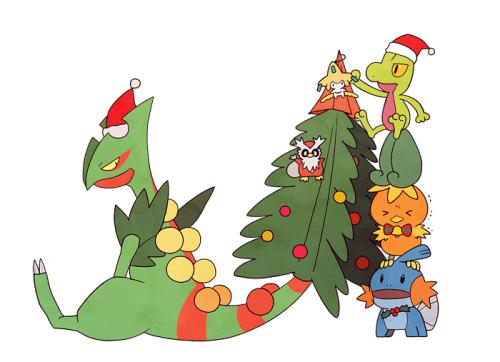 pokemon christmas fan art
