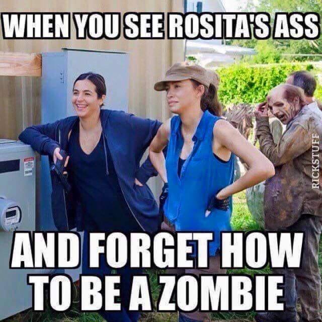 walking dead memes rositas ass