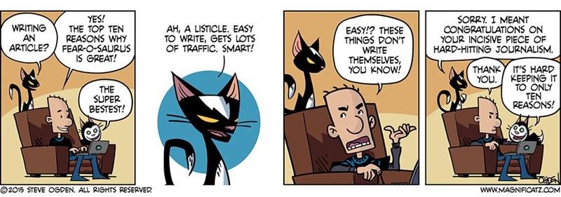 web comics writing listicles