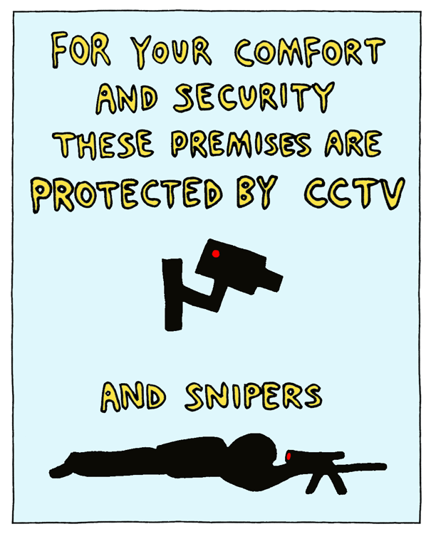 web comics protected by cctv snipers
