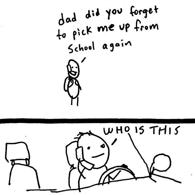 web comics dad did you forget to pick me up