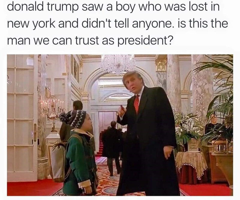 funny memes donald trump home alone