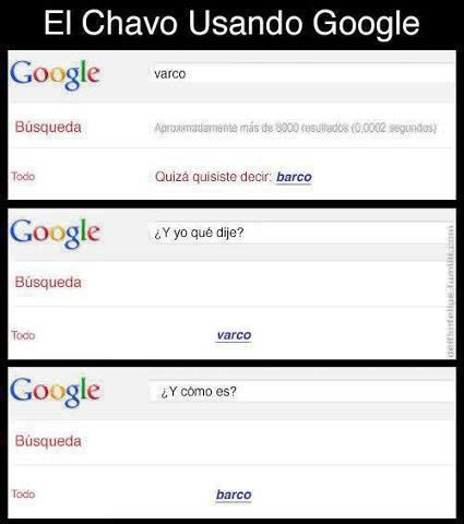 chavo usando google