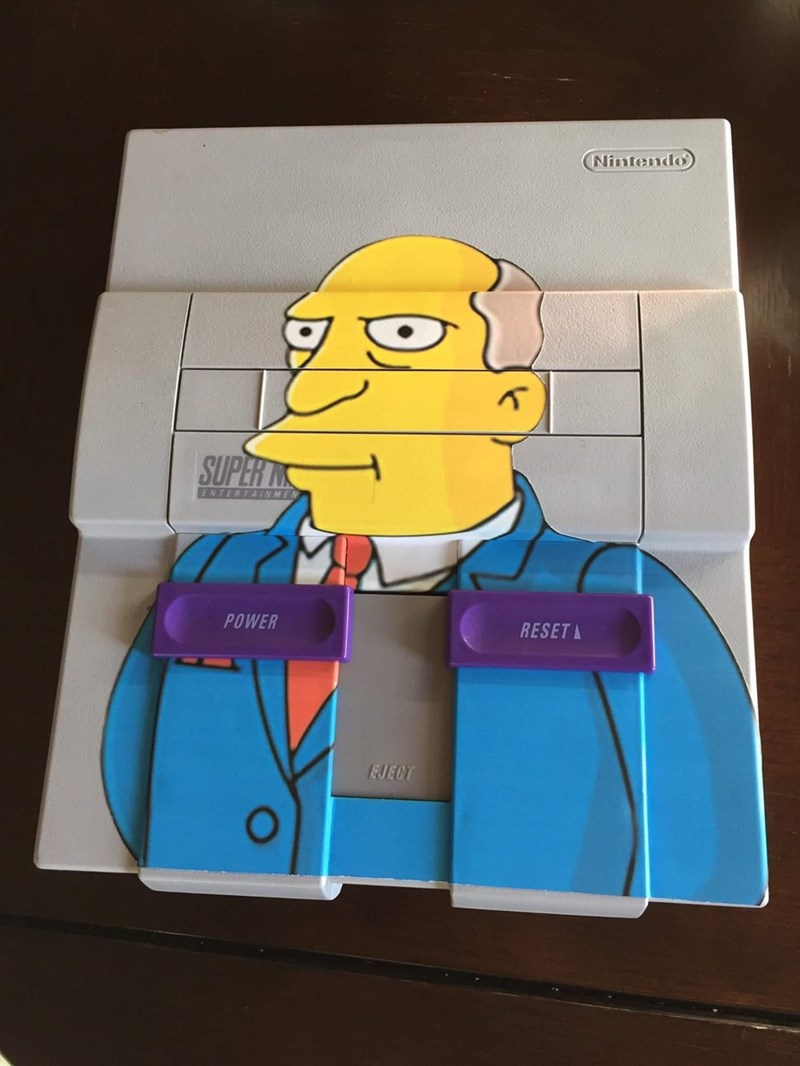 snes,simpsons