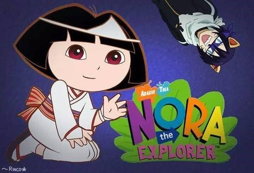 crossover,noragami,dora the explorer