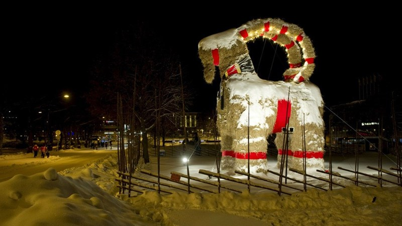 swedish-man-fire-giant-straw-goat-christmas-tradition