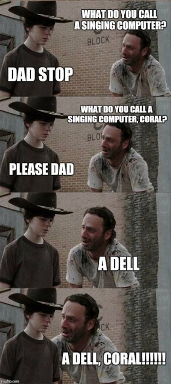 walking dad joke a dell