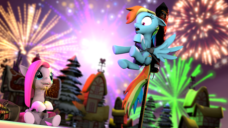 pinkamena diane pie,new years,pinkie pie,rainbow dash